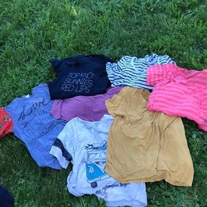 Tee shirt lot. All 7 tees for $13!!!